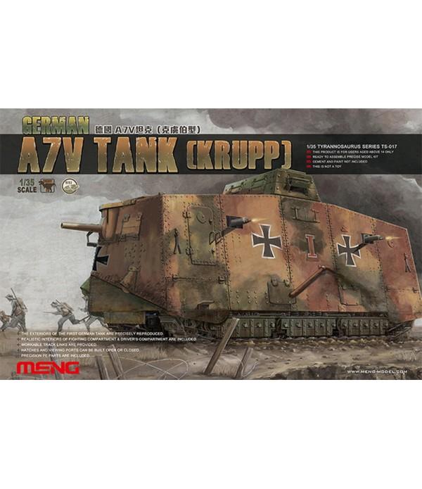 Танк German A7V Tank (krupp) 1/35 MENG TS-017