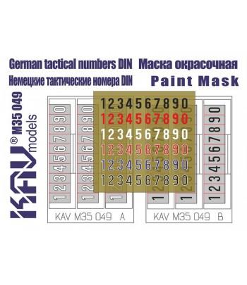 Немецкие номера KAVmodels KAV M35 049