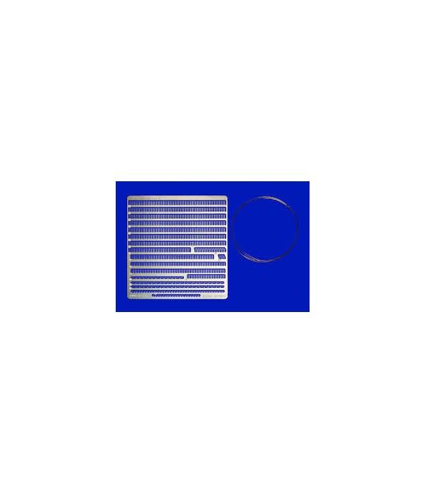 Набор релингов для кораблей масштаба 1/350 (содержит 8 разных видов ограждений) TAMIYA 12642