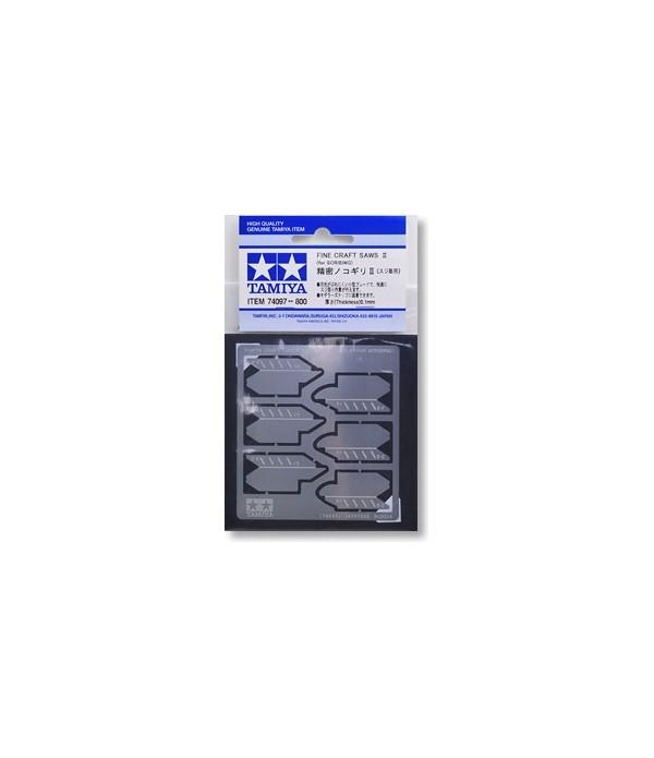 Набор тонких пилок-полотен II толщиной 0,1 мм TAMIYA 74097