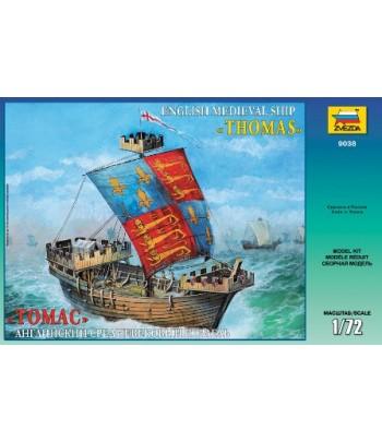 """Английский средневековый корабль """"Томас"""" ЗВЕЗДА 9038"""