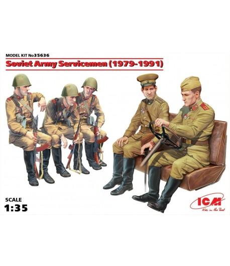 Советские военнослужащие (1979-1991), (5 фигур) ICM 35636