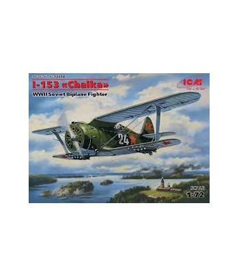 """И-153 """"Чайка"""", Советский истребитель-биплан 2МВ ICM 72074"""