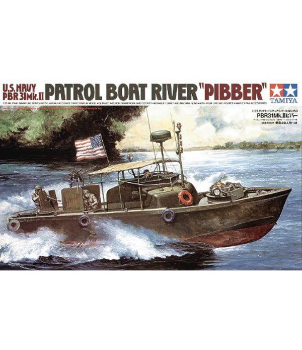 "Американский катер PBR 31 Mk. II ""PIBBER"" с 4 фигурами TAMIYA 35150"