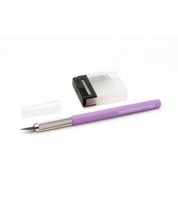 Дизайнерский нож с 25 дополнительными лезвиями (фиолетовая ручка) TAMIYA 69918