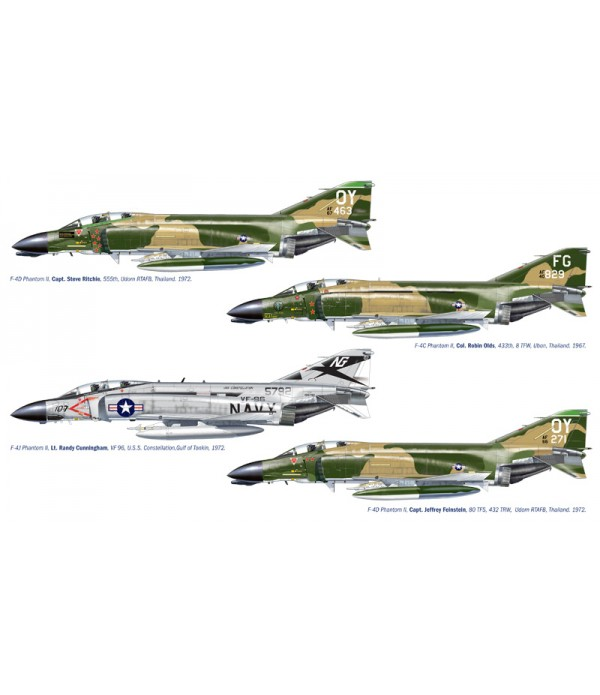 Самолет F-4 C/D/J Phantom II Aces (1:72) ITALERI 1373