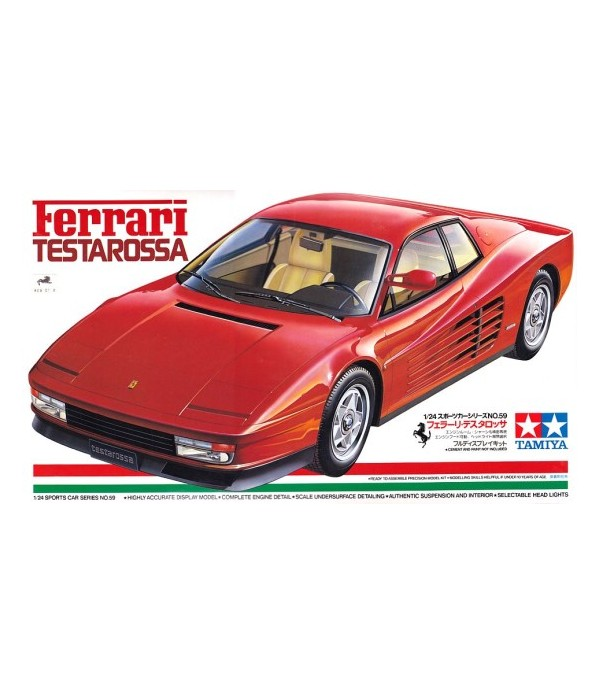 Автомобиль Ferrari Testarossa TAMIYA 24059
