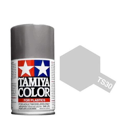 TS-30 Silver Leaf - краска-спрей в баллоне 100 мл. TAMIYA 85030
