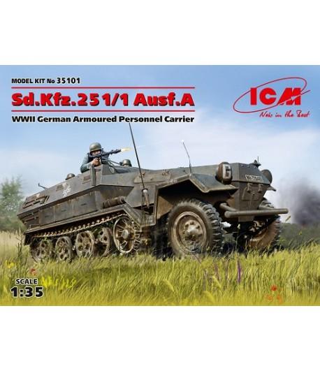 Sd.Kfz.251/1 Ausf.A, Германский бронетранспортер ІІ МВ ICM 35101