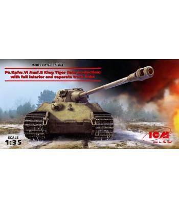 """Pz.Kpfw.VI Ausf.B """"Королевский Тигр"""" (позднего производства) с полным интерьером и наборными траками"""