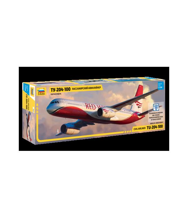 Пассажирский авиалайнер Ту-204-100 ЗВЕЗДА 7023