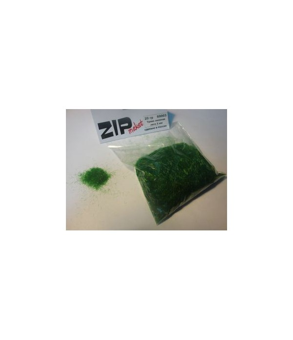Трава зеленая лето 2 мм, 20 грамм ZIP-maket 69003