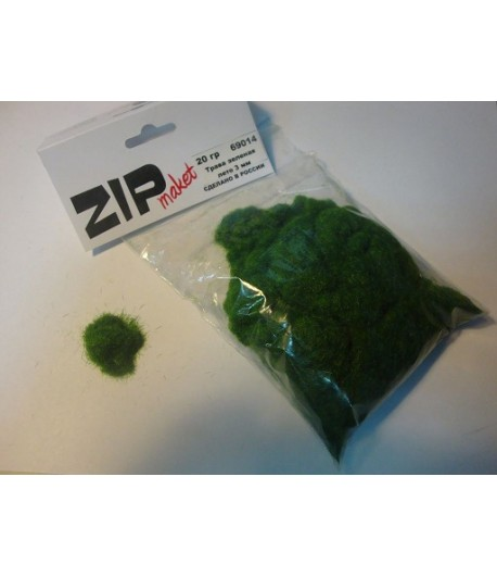 Трава зеленая лето 3 мм, 20 грамм ZIP-maket 69014