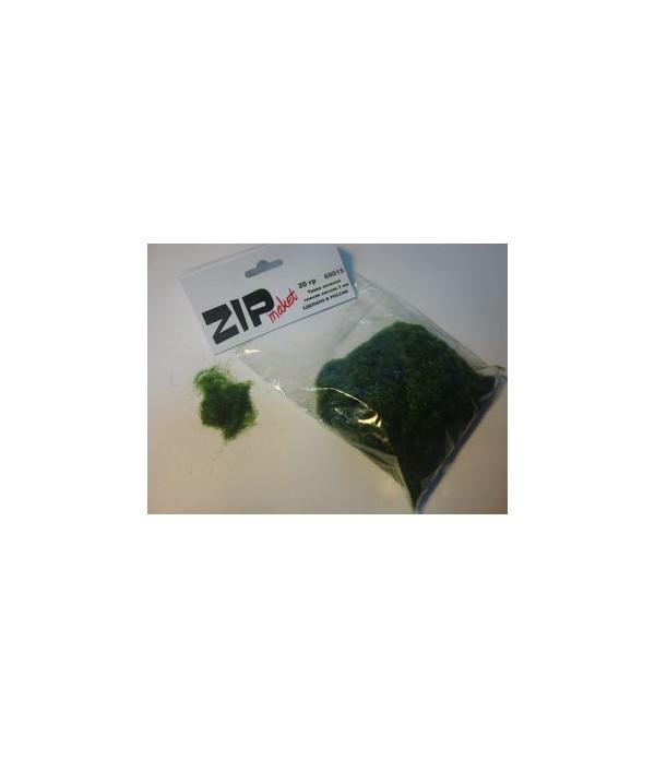 Трава зеленая темная лесная 3 мм, 20 грамм ZIP-maket 69015