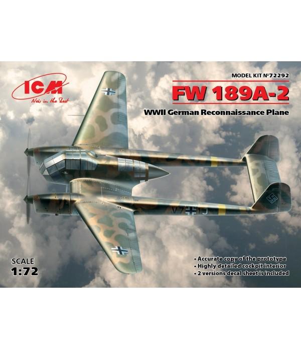 FW 189A-2, ГЕРМАНСКИЙ САМОЛЁТ-РАЗВЕДЧИК II МВ ICM 72292