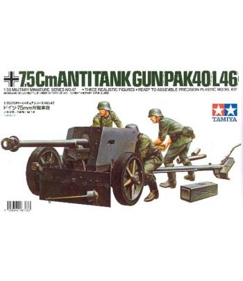 PAK40L/46 (Немецкое 75-мм противотанковое орудие) TAMIYA 35047