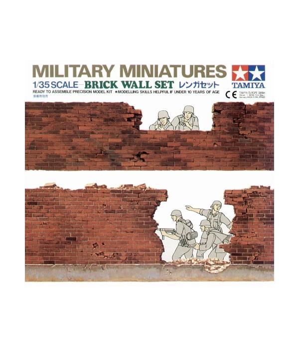 Набор фрагментов кирпичной стены, 4 вида TAMIYA 35028