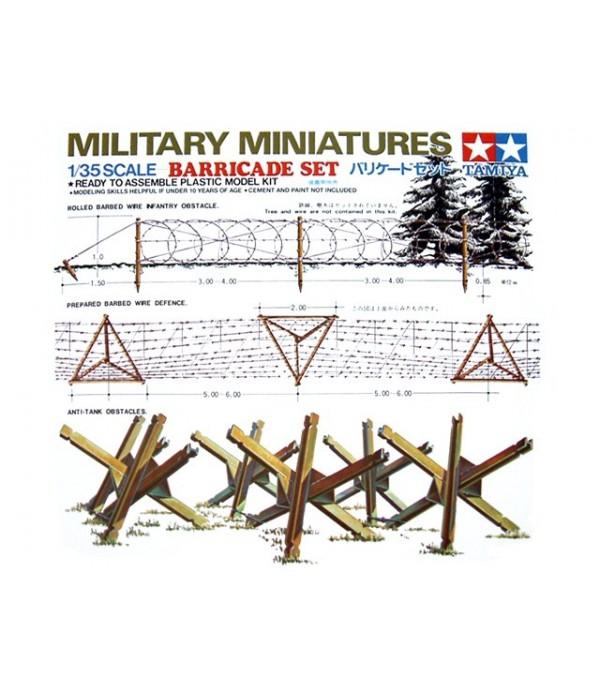 Набор противотанковых ежей и деревянных заграждений TAMIYA 35027