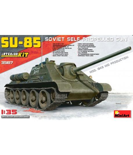 САУ СУ-85 С ПОЛНЫМ ИНТЕРЬЕРОМ MINIART 35187