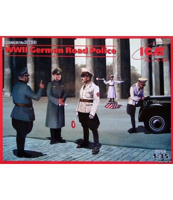 WWII GERMAN ROAD POLICE (ГЕРМАНСКАЯ ДОРОЖНАЯ ПОЛИЦИЯ II МВ (5 ФИГУР) ICM 35633