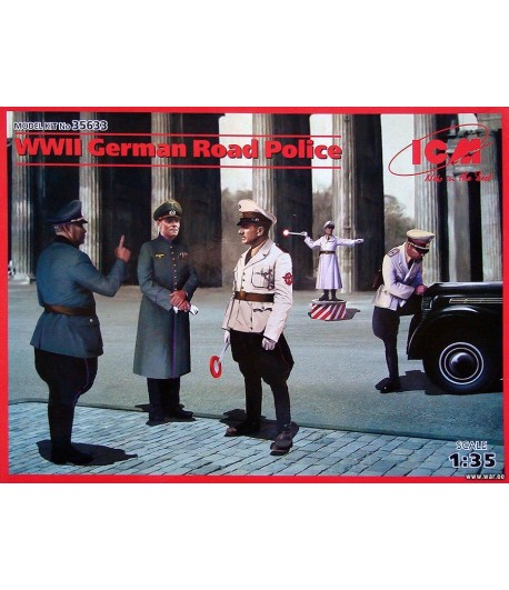 WWII GERMAN ROAD POLICE (ГЕРМАНСКАЯ ДОРОЖНАЯ ПОЛИЦИЯ II МВ (5 ФИГУР) ICM 35633