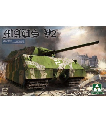 WWII GERMAN SUPER HEAVY TANK MAUS V2 TAKOM TAK2050