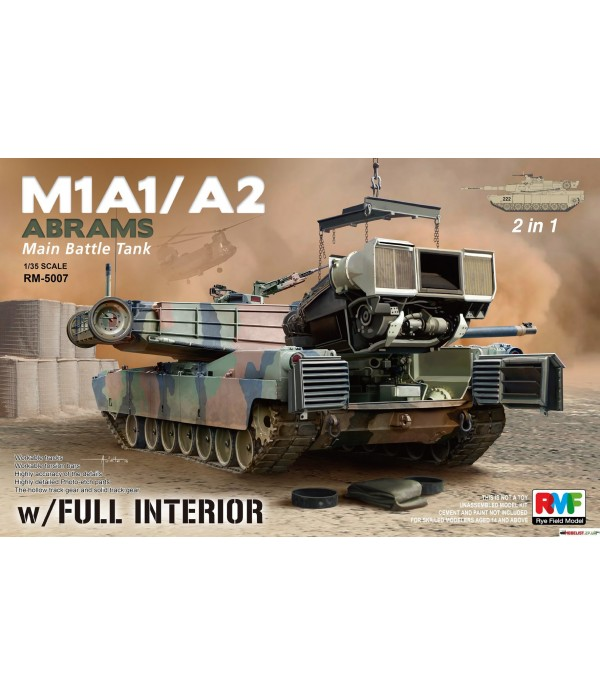 M1A1/M1A2 W/ FULL INTERIOR RYE FIELD MODEL RM-5007