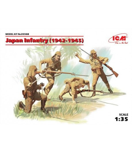 Фигуры Японская пехота (1942-1945 Г.) ICM 35568