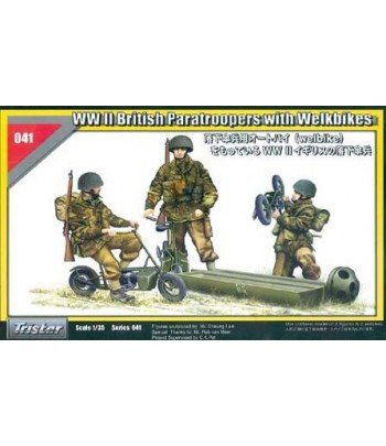 WW II British Paratroopers with Welkbikes TRISTAR 35041
