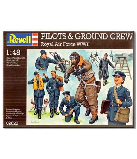 Фигуры пилоты и наземная команда Британских ВВС REVELL 02620