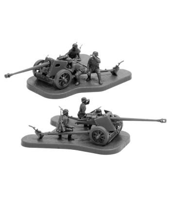 Немецкая противотанковая пушка ПАК-40 с расчетом ЗВЕЗДА 6257