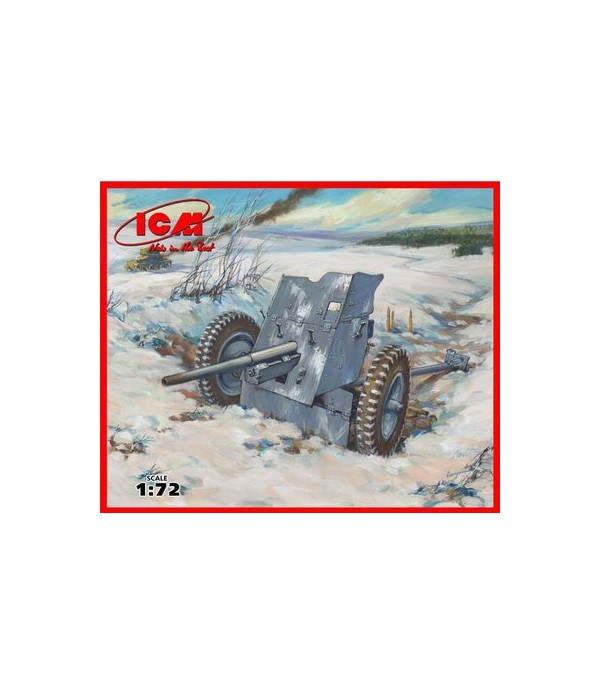 3,7 cm Pak 36 WWII German Anti-Tank Gun ICM 72251