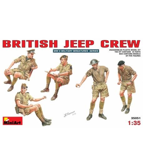Британский экипаж джипа MINIART 35051