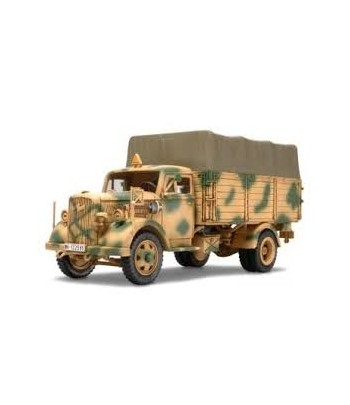 Немецкий 3-х тонный грузовик (Opel Blitz), 2 фигуры, (4 варианта декалей), бочки и канистры TAMIYA 3