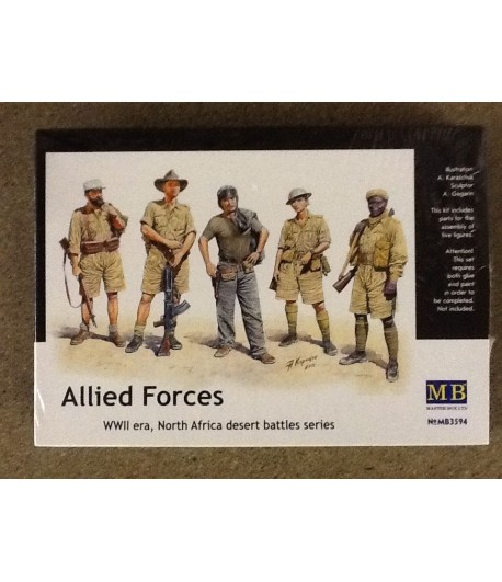 Allied Forces, WWII Era, North Africa desert battles series MASTERBOX 3594
