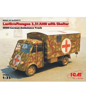 Lastkraftwagen 3.5 AHN с будкой, Германская военная машина скорой помощи 2 МВ ICM 35417