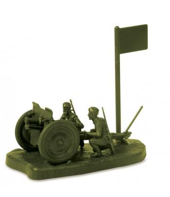 Советская 76-мм полковая пушка с расчетом ЗВЕЗДА 6145