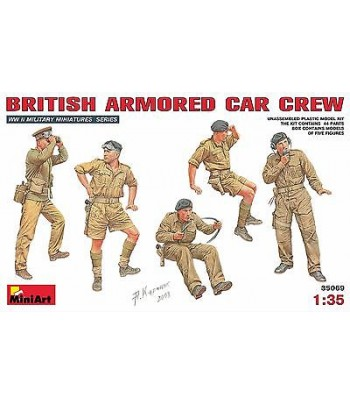 British Armoured Car Crew MINIART 35069