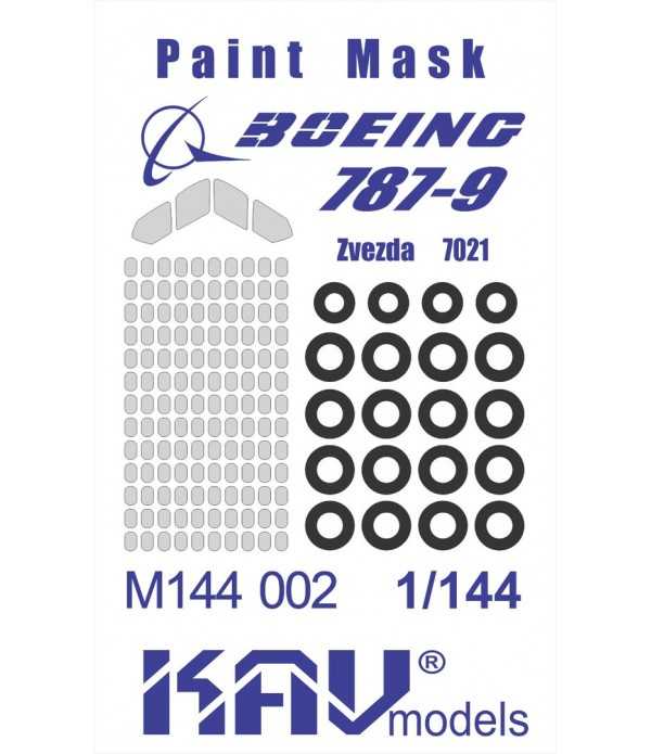 Окрасочная маска на Boeing 787 Dreamliner(Звезда) KAVmodels KAV M144 002