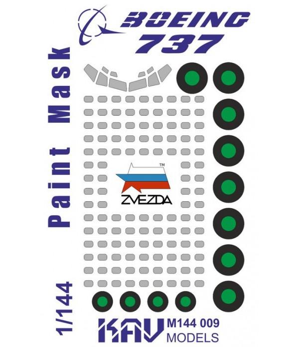 Окрасочная маска на Boeing 737-800(Звезда) KAVmodels KAV M144 009