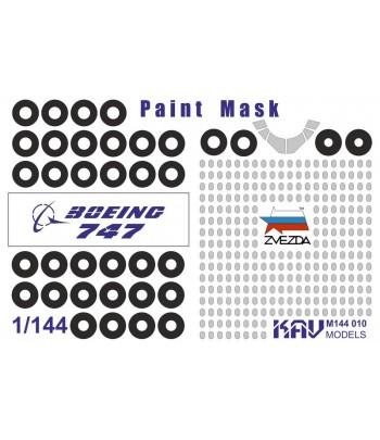 Окрасочная маска на Boeing 747-8(Звезда) KAVmodels KAV M144 010