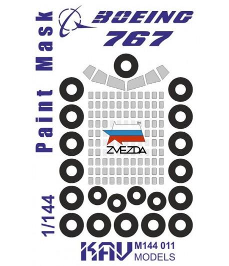 Окрасочная маска на Boeing 767(Звезда) KAVmodels KAV M144 011