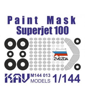Окрасочная маска на Superjet 100(Звезда) KAVmodels KAV M144 013
