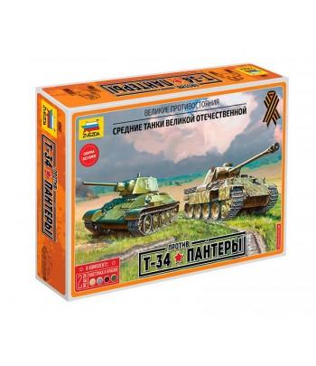 Великие противостояния. Т-34 против Пантеры ЗВЕЗДА 5202