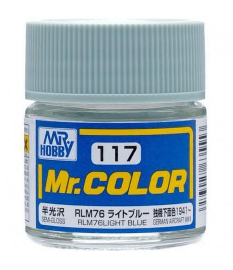 C117 краска художественная MR.HOBBY 10мл RLM76 LIGHT BLUE GUNZE SANGYO