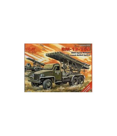 BM-13-16N WWII Multiple Launch Rocket System ICM 35512