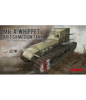 Британский средний танк Mk.A Whippet & British infantry MENG TS-021