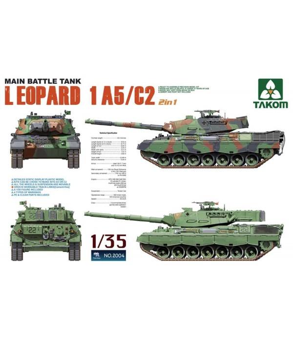 Германский основной боевой танк LEOPARD 1A5/C2 TAKOM TAK2004