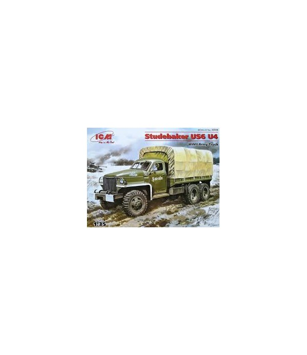 Studebaker US6 U4 с тентом, лебедкой ICM 35514