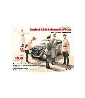 Kadett K38 седан, с Германской дорожной полицией ICM 35480